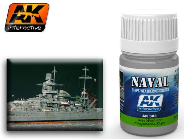 Maquette ak 303 grey wash for kriegsmarine ships - Peinture grey wash ...