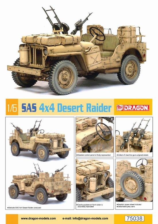 maquette dragon 75038 jeep sas 4x4 desert raider 1 6. Black Bedroom Furniture Sets. Home Design Ideas